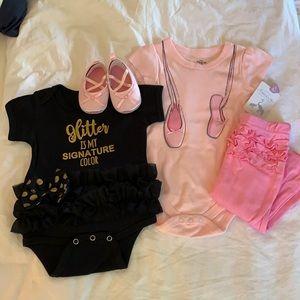 Girly Girl Baby Bundle 3-6M NWT